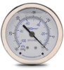 -30 to 0in Hg Liquid fill vacuum Pressure Gauge 2.5in mechanical dial -- G25-SLV-4CS - Image