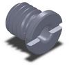 Button Lock Receptacle - 12MM -- QCBU0608-M12