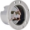 Inlet, Turnlok Flanged Inlet, 30A, 250V, NEMA Config: L6-30P, 3 Wire Ground,Gray -- 70050642