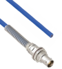 Plenum Cable Assembly TRB Non-Insulated Bulk Head 3-Lug Cable Jack with Bend Relief to Blunt MIL-STD-1553 .242