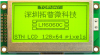 128x64 Graphic Display Module -- LM6060CBY - Image