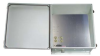 18x16x08 UL Listed Fiberglass Reinf Polyester FRP Weatherproof Outdoor IP66 NEMA 4 Enclosure, 120 VAC MNT PLT Gray -- TEF181608-100-UL -Image