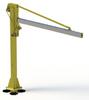 Standard Floor Mount Jib Crane -- Free-standing 360º -Image