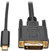 USB 3.1 Gen 1 USB-C to DVI Adapter Cable (M/M), Thunderbolt 3 Compatible, 1920 x 1080 (1080p), 6 ft. -- U444-006-D - Image