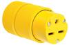 Pass & Seymour® -- Gator Grip Connector, Yellow - D0633