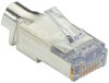 CAT6 EZ RJ45 Modular Plug Connector - Shielded, TAA, 100-Pack -- C6EZSP-100PAK -- View Larger Image