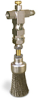 "(Formerly A2261-3X02), Valve Brush, 1"" Round Stainless Steel, 1/8"" Female NPT Inlet -- A2261-SR3BHW -Image"
