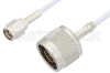 SMA Male to N Male Cable 36 Inch Length Using RG188 Coax, RoHS -- PE3911LF-36 -Image