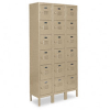 SnapIt Six-Tier Box Lockers, 36w x 18d x 78h, Tan -- METCQA5143TN