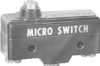 MICRO SWITCH YA Series Standard Basic Switch, Single Pole Normally Open Circuitry, 20 A at 250 Vac, Overtravel Pin Plunger Actuator, 3,89 N to 6,12 N [14.0 oz to 22.0 oz] Operating Force, Silver Conta -- YA-2RB-A64 -Image