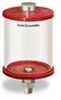 """Red Color Key, Clear View Oil Reservoir, 1 qt Acrylic, 3/8"""" NPT, Pipe Mount -- B5166-032AB3RW -- View Larger Image"""