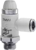 Composite Right Angle Flow Control Valve -- TMVU 972-1/8-4