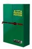 Justrite 45 gal Green Hazardous Material Storage Cabinet - 43 in Width - 65 in Height - Floor Standing - 697841-10088 -- 697841-10088