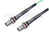 TNC Female Bulkhead to TNC Female Bulkhead Low Loss Cable 36 Inch Length Using PE-P160LL Coax -- PE3C5251-36 -Image