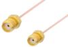 SMA Female to SMA Female Cable 12 Inch Length Using PE-034SR Coax, RoHS -- PE34405LF-12 -Image