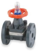Diaphragm Valves,1 In,PVC,Flange -- 3HMC6