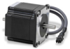 STEPPER MOTOR NEMA 23 DOUBLE SHAFT 166 oz-in BIPOLAR W/1ft CABLE -- STP-MTR-23055D