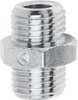 Nickel Plated Brass Pipe Fitting -- 2501 M5 -- View Larger Image