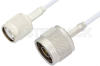 N Male to TNC Male Cable 12 Inch Length Using RG188 Coax -- PE33457-12 -Image