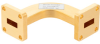 WR-42 Waveguide H-Bend Using UG-595/U Flange with a 18 GHz to 26.5 GHz Frequency Range -- FMW42B100 - Image
