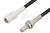 SMB Plug to SMB Jack Bulkhead Cable 36 Inch Length Using PE-B100 Coax -- PE34491LF-36 -Image
