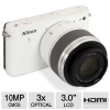 Nikon 1 J1 Digital Camera with 10 - 30mm & 30 - 110mm Lenses -- 27547