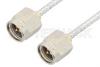 SMA Male to SMA Male Cable 18 Inch Length Using PE-SR405FL Coax, RoHS -- PE3867LF-18 -Image