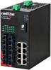 NT24k®-14GXE6 Managed Gigabit Ethernet Switch, SC 10km PTP Enabled -- NT24k-14GXE6-SC-10-PT -Image