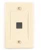Black Box Connect Wallplate - Single-Gang, Ivory, 1-Port, 10-Pack -- WPIV-1-10PAK -Image