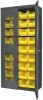 Akro-Mils 1000 lb Gray Yellow Powder Coated Steel 18 ga Non-Stackable Bin Cabinet - 18 in Overall Length - 36 in Width - 78 in Height - 18 Drawer - 36 Bins - Lockable - AC3618SV240 -- AC3618SV240 - Image