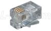 Modular Plug, RJ11 (6x4), Rectangular Entry Pkg/100 -- TD6P4C