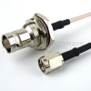 SMA Male to BNC Female Bulkhead Cable RG-316 Coax in 36 Inch -- FMC0238316-36 -Image