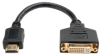 HDMI to DVI Cable Adapter (HDMI-M to DVI-D F) 8-in. -- P132-08N - Image