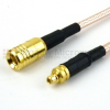 MMCX Plug to SMB Plug Cable RG-316 Coax in 48 Inch -- FMC0916316-48 -Image
