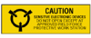 Static Awareness Labels (B-121; Roll Mounted; Black on Yellow) -- 662820-13906