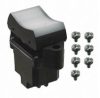Rocker Switch DPDT On-On-On momentary / maintained / momentary 15A/125Vac -- 78454904300-1