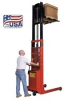 Battery Powered 1000 Lb. To 2000 Lb. Pallet Straddle & Platform Stackers -- HPESFL-64-25 -Image