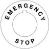Emergency Stop Label -- THTEP-196 (CIRCLE)