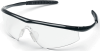 Crews Tremor Safety Glasses with Onyx Frame and Clear Lens -- TM110