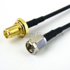 SMA Male to SMA Female Bulkhead Cable RG-174 Coax in 12 Inch and RoHS Compliant -- FMC0212174LF-12 -Image