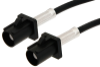 Black FAKRA Plug to FAKRA Plug Cable 12 Inch Length Using PE-C100-LSZH Coax -- PE38747A-12 -Image