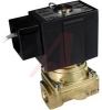 Process Solenoid Valve, pilot operated,zero differ, 3/8 port, NC,110VAC,conduit -- 70071796