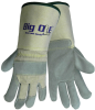 Global Glove Big Ole 2100GC Gray/White Medium Split Leather Full Fingered Work & General Purpose Gloves - Uncoated - 2100GC MD -- 2100GC MD