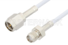 SMA Male to SMA Female Cable 6 Inch Length Using RG188 Coax, RoHS -- PE3706LF-6 -- View Larger Image