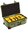 Pelican 1510 Carry On Case with Yellow Padded Dividers - Olive Drab | SPECIAL PRICE IN CART -- PEL-015100-0040-130 - Image