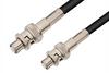 SHV Plug to SHV Plug Cable 24 Inch Length Using 75 Ohm RG59 Coax, RoHS -- PE3895LF-24 -Image