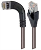 Shielded Category 6 Right Angle Patch Cable, Straight/Right Angle Left, Gray, 10.0 ft -- TRD695SRA6GRY-10 -Image