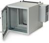 12U NEMA12 Wallmount Cabinet w/800-BTU AC DBL Hinged GlandPlate BG -- RMW5110ACG-R2