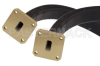 WR-51 Twistable Flexible Waveguide 24 Inch, Square Cover Flange Operating From 15 GHz to 22 GHz -- PE-W51TF005-24 -Image