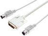 L-COM - CTLKVMDVIM-2 - COMPUTER CABLE, DVI-D/KVM, 2M, GRAY -- 154304